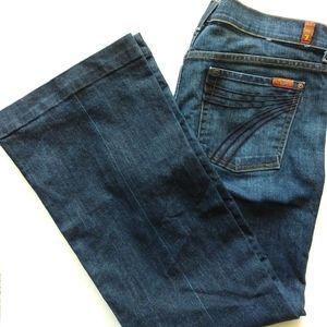7 For All Mankind Dojo 32 Medium Wash Flare Jeans